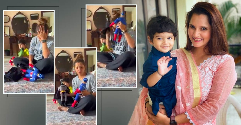 sania-mirza-share-a-funny-video-with-son-izhaan-viral