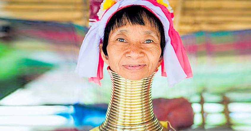 Tribe Woman With Neck Ring