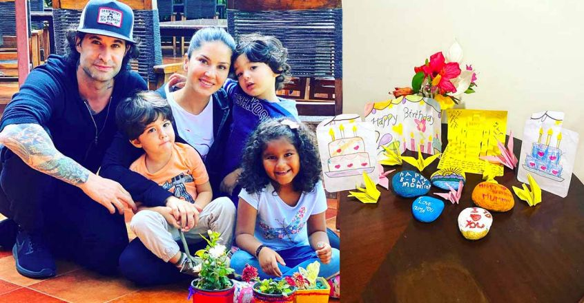 sunny-leone-post-a-video-of-birthday-gift-by-kids
