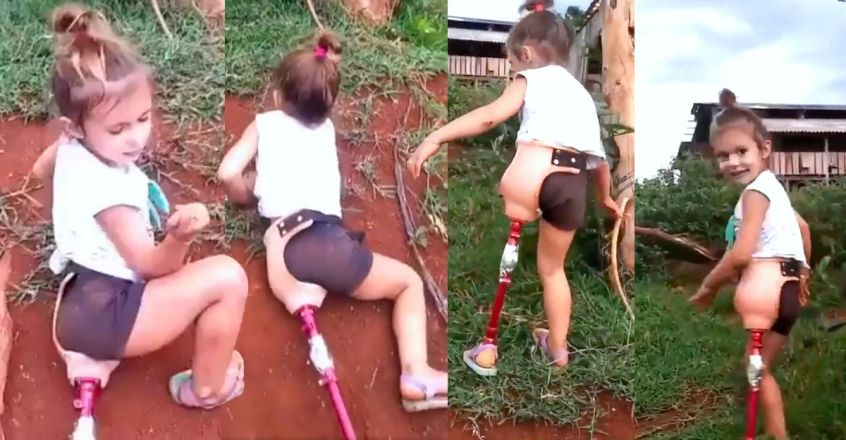 little-girl-with-prosthetic-leg-climbs-a-ditch-viral-video