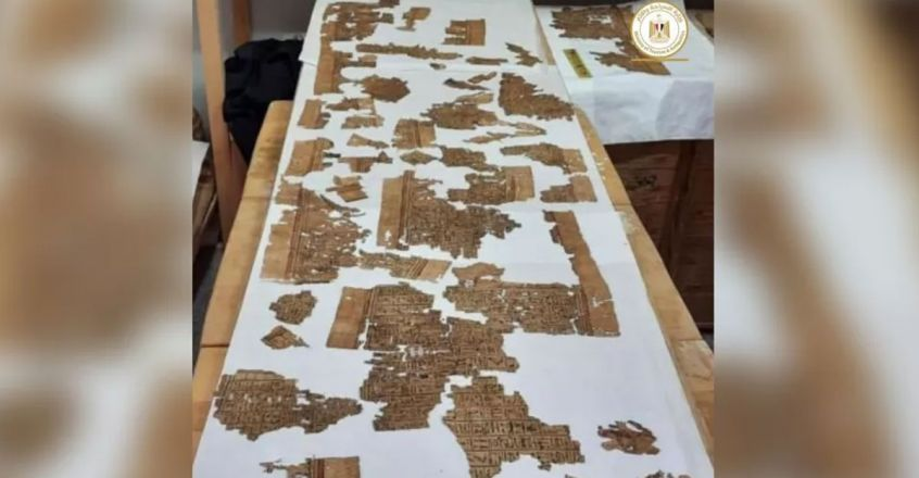 13-foot-long-Book-of-the-dead-scroll-found-in-egypt