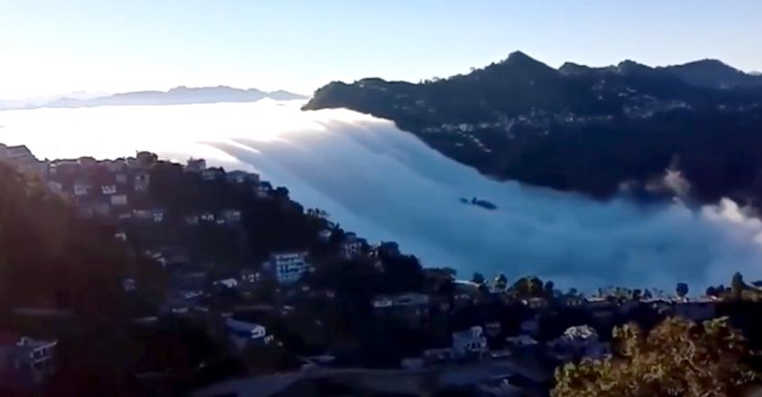 Clouds Floating Down The Mountains In Mizoram