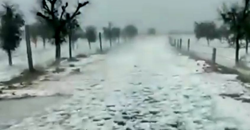 District In Rajasthan Covered In 'Snow' After Heavy Hailstorm
