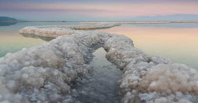Salt Crystals in The Dead Sea