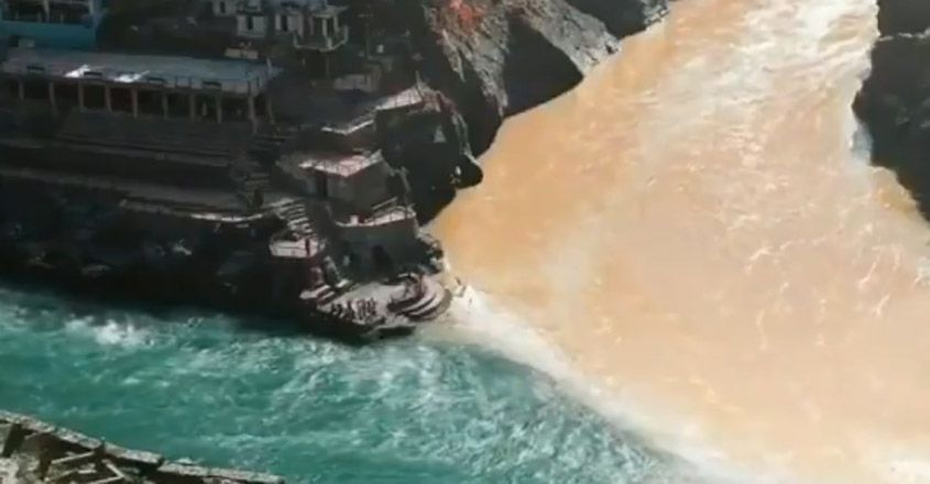 Confluence Of Alaknanda And Bhagirathi In Devprayag