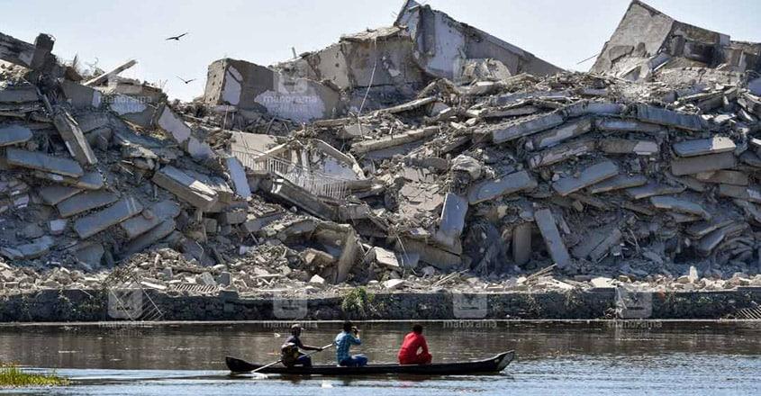 Dust menace at Maradu flats demolition sites