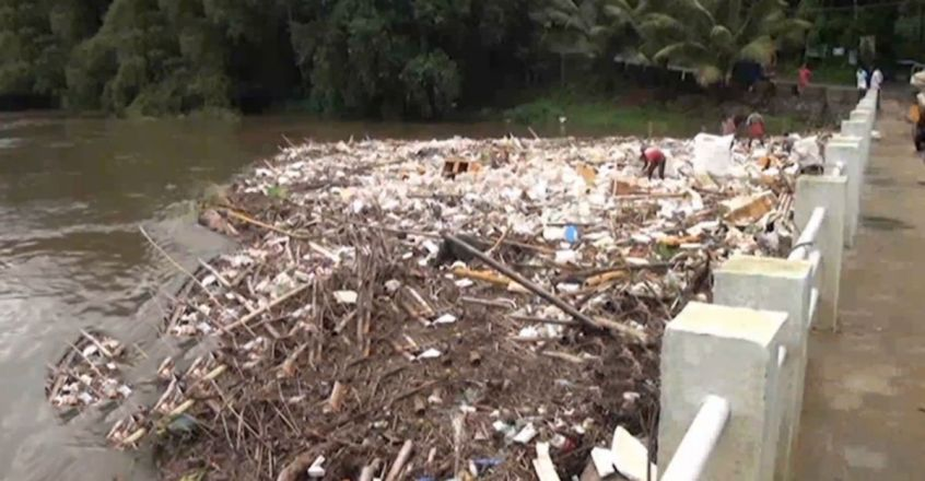 River Manimalayar Throws Up All The Plastic Waste Dumped In It