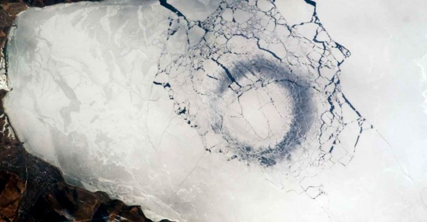 Mysterious 'ice rings' form in the world's deepest lake