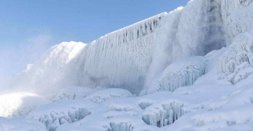 Niagara Falls partially freezes amid brutal winter storm