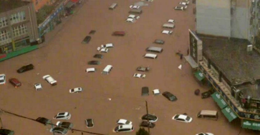 'Extraordinary Rainfall' Drops Year's Worth In Just 3 Days On China's IPhone City