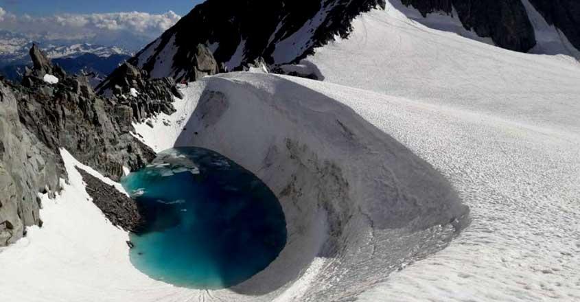 Beautiful Lake In The Alps