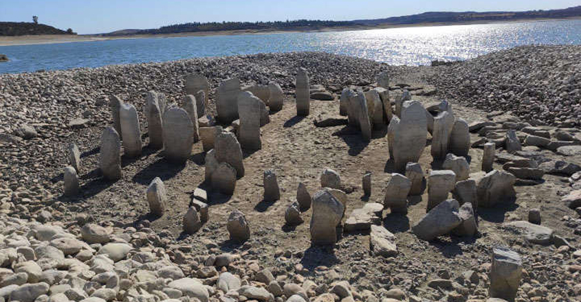 Summer Drought Reveals Spanish Stonehenge Submerged Under Artificial Lake