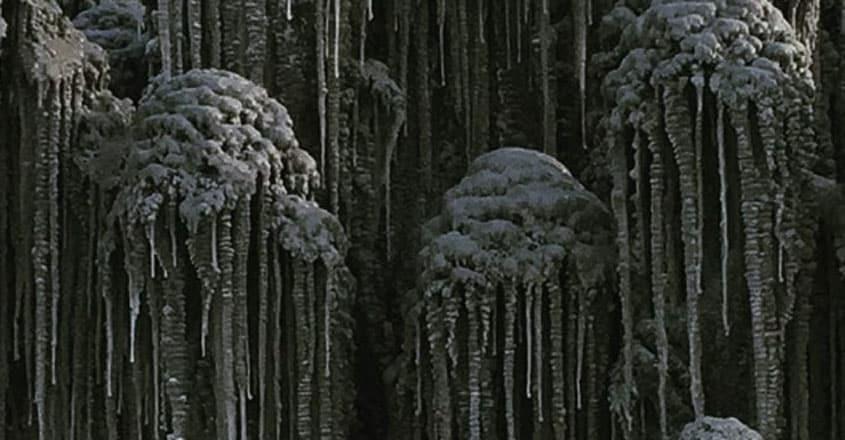 Black Snow Is Falling Down In Siberia