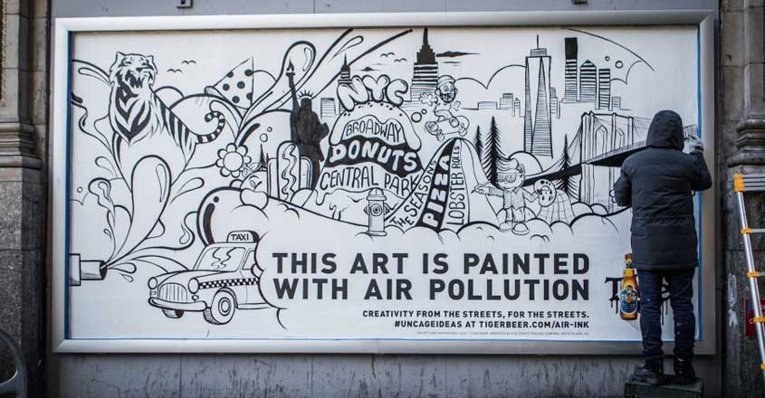 world's first ink made out of air pollution