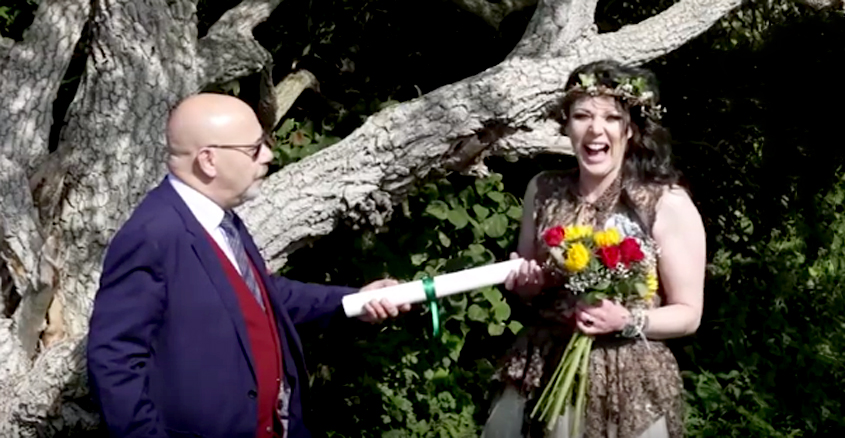 UK Woman Marries A Tree