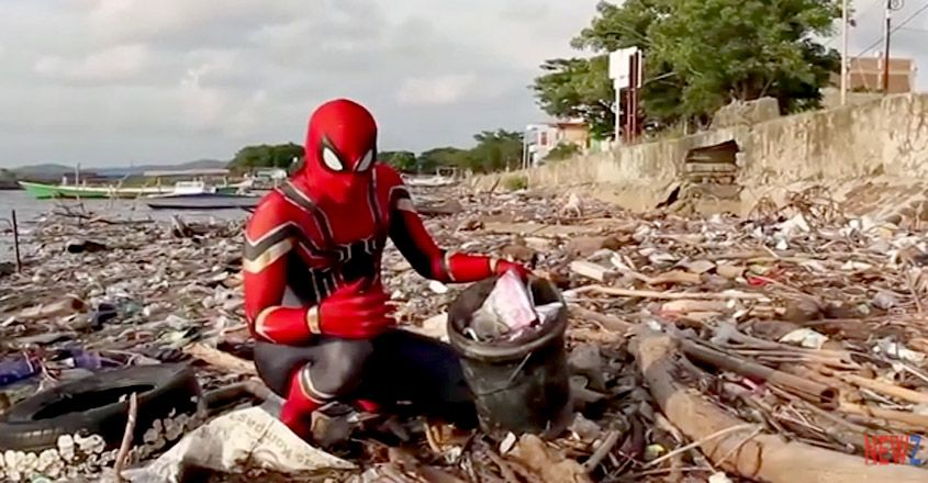 This Man Dresses Up As Spider-Man To Clean Trash