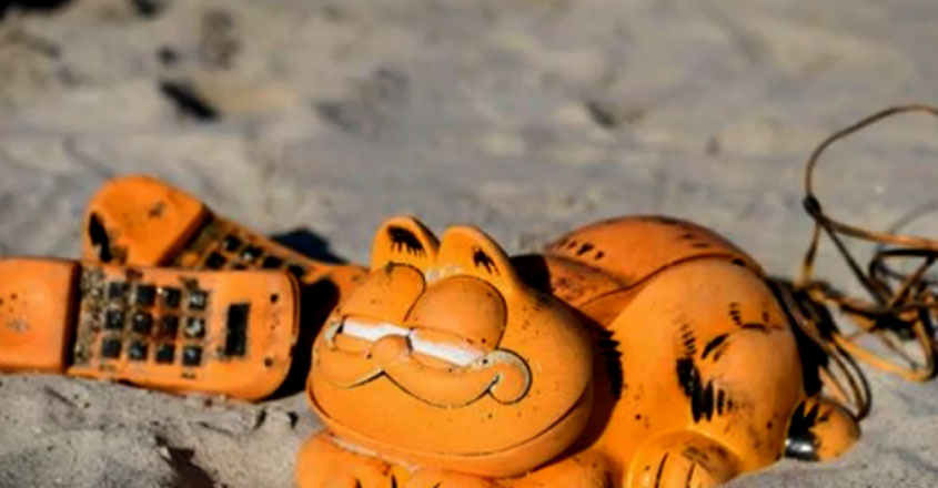 Garfield phones beach mystery finally solved