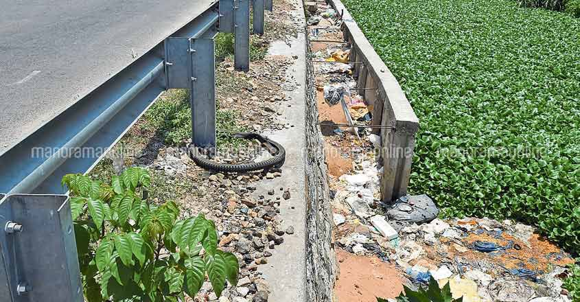waste dumped near Trivandrum airport