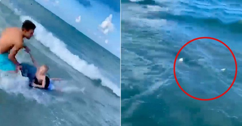 Cop Jumps Into Water, Pulls Boy Away From Shark