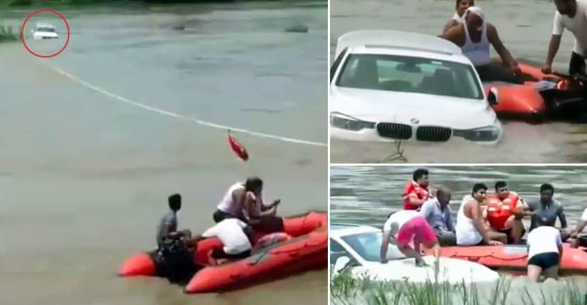 car-in-river