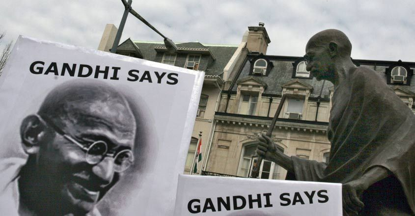 US-INDIA-GANDHI-BUSH
