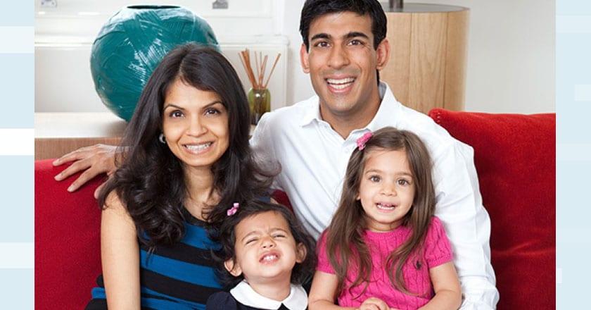 Rishi-Sunak-family