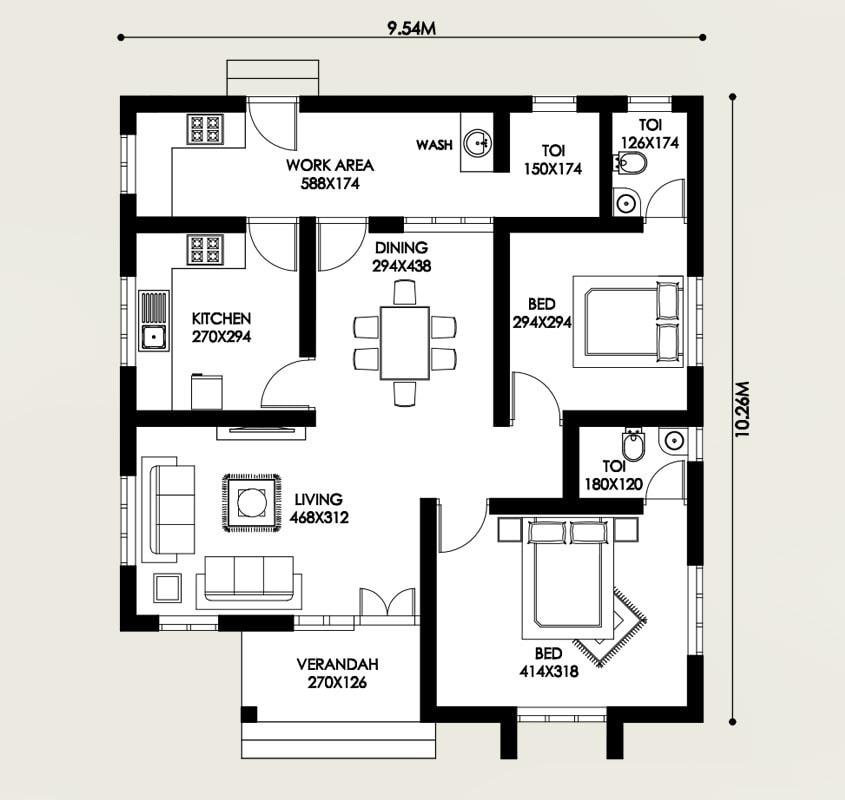 16-lakh-house-thrissur-plan