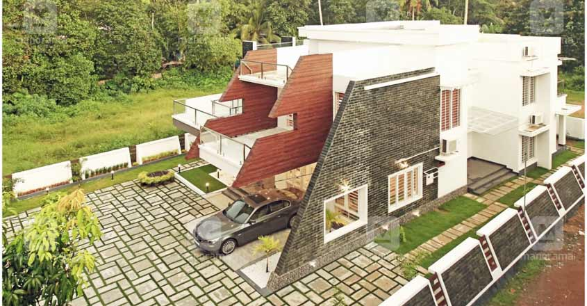 nri-house-changanacheri-aerial