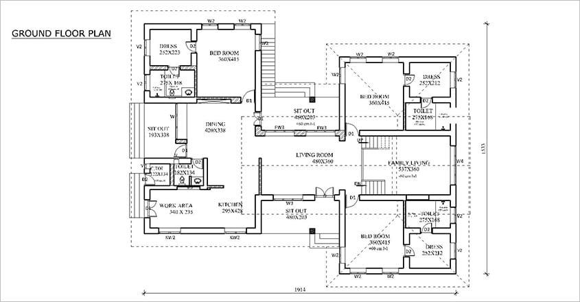 mud-house-thrissur-plan