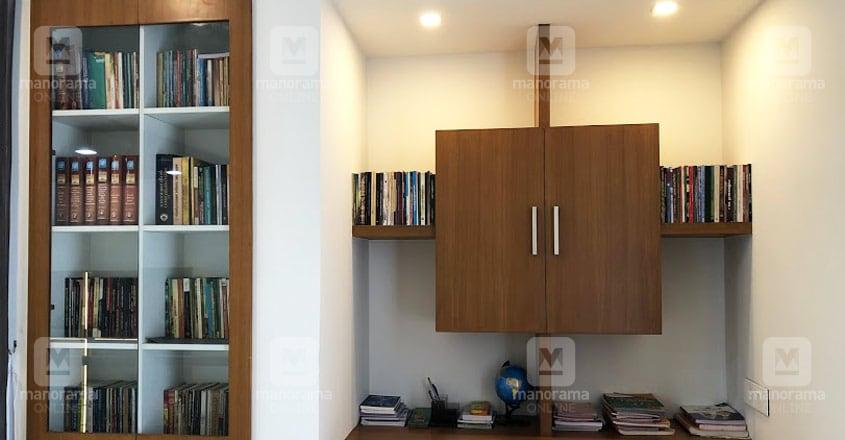 minimal-house-ernakulam-library