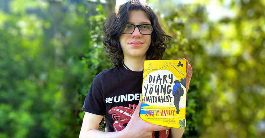 Dara Mcanulty With His Book