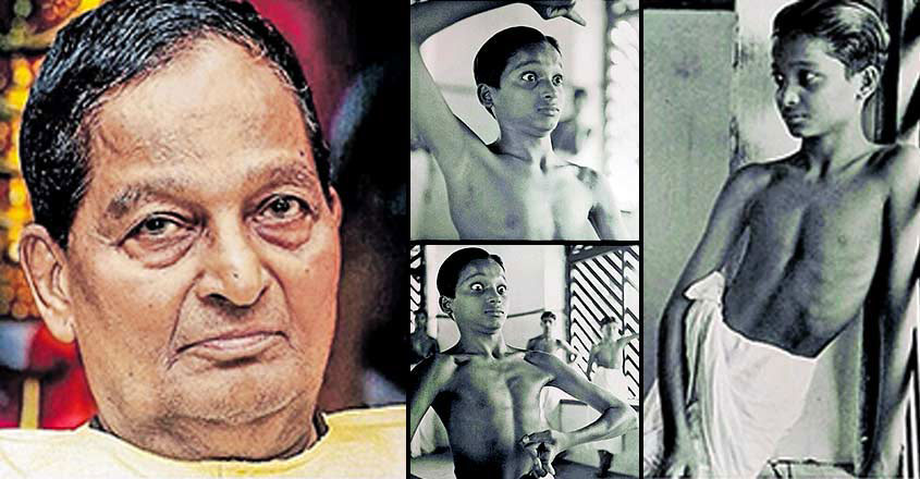 Kalamandalam Gopi With His Childhood Photos