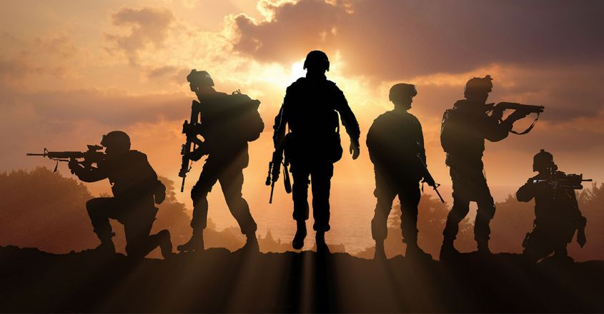 six-military-silhouettes