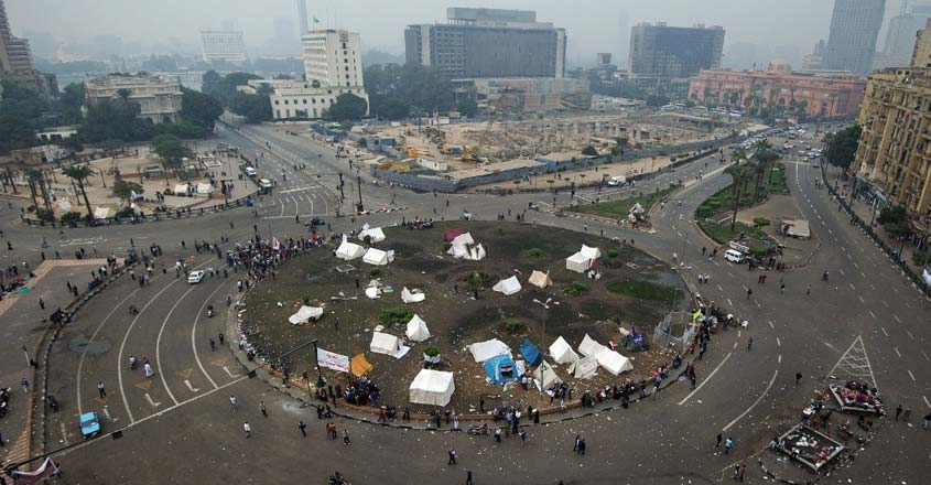 Egyptian revolution landmark Tahrir Square