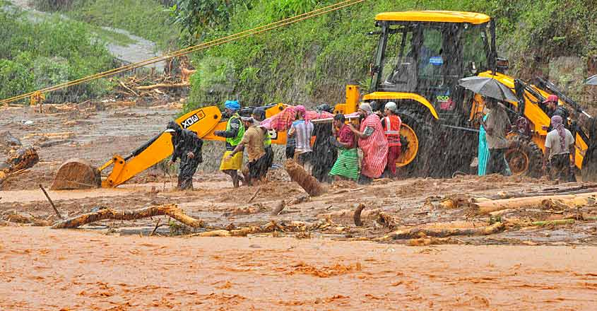 Kerala Landslide Floods Map Rain Infographics