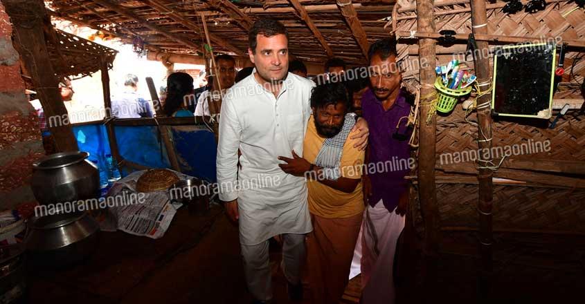 Rahul Gandhi visits Kripesh house