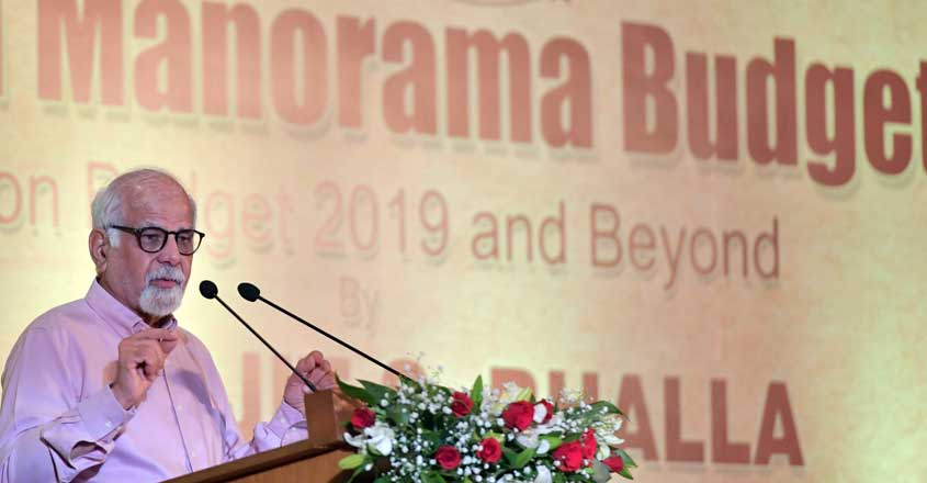 Dr. Surjith S Bhalla delivering Malayala Manorama Budget lecture
