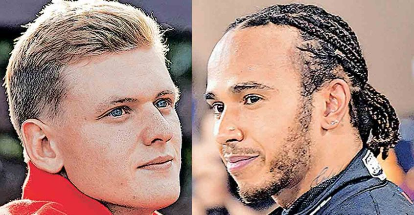 Mick-Schumacher-and-Lewis-Hamilton