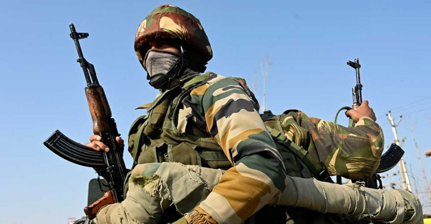 Indian Army (Photo by Tauseef MUSTAFA / AFP)