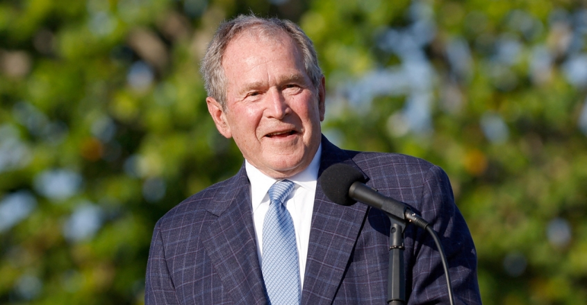 George W. Bush Photo by Cliff Hawkins / GETTY IMAGES NORTH AMERICA / Getty Images via AFP