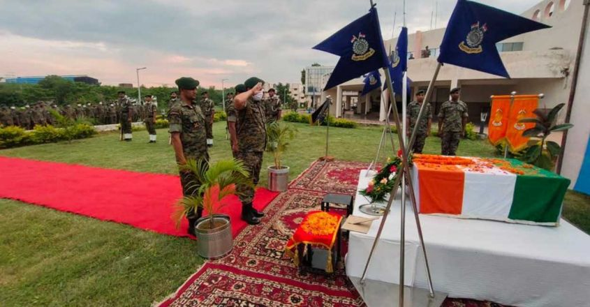 CRPF pays tribute to Drone, the sniffer dog