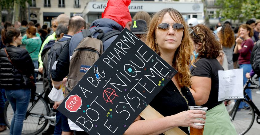 Covid Vaccination Protest in France Photo by GEOFFROY VAN DER HASSELT AFP