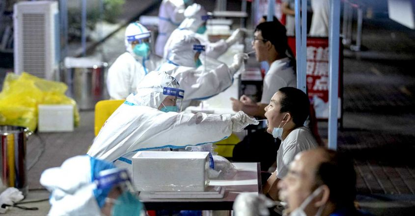 Wuhan mass testing  (Photo by STR / AFP) / China OUT