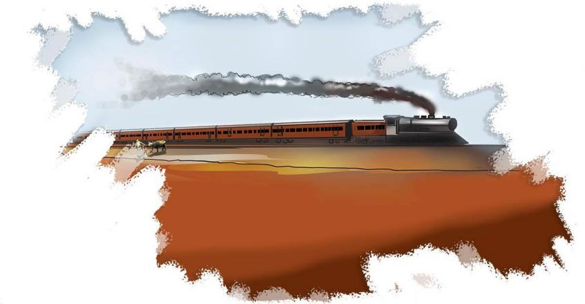 old-train-drawing