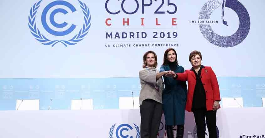 Madrid: UN Climate Change Executive Secretary Patricia Espinosa (R) attends the 25th Conference of the Parties to the United Nations Framework Convention on Climate Change (UNFCCC) or COP25 in Madrid. (Photo: IANS)