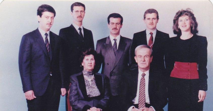 Hafez al-Assad With Family