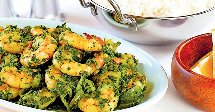 Green Chilli Prawns