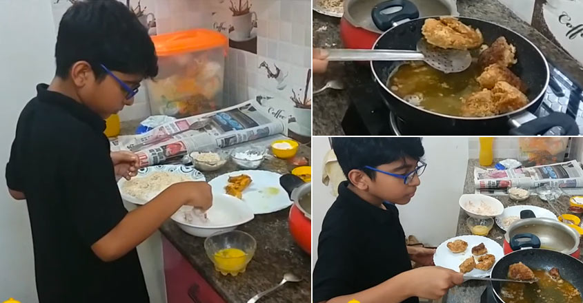 little-chef-adhwaith-manav-shows-how-to-make-kfc-fied-chicken-at-home