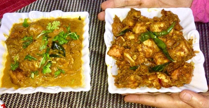 Chicken Varattu And Curry