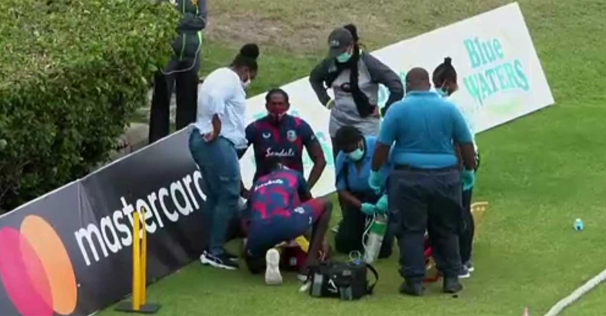 2 players collapse during Pakistan-West Indies match    Two West Indies Players Collapsed